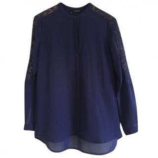 The Kooples Lace Sleeve Blouse