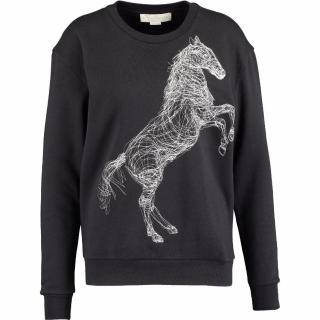 Stella McCartney Black Horse Embroidered Sweatshirt/Jumper