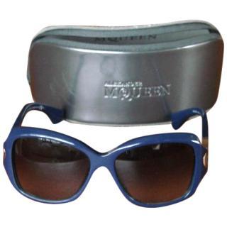 Alexander McQueen Blue Sunglasses