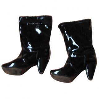 Marc Jacobs Black Patent Leather Boots