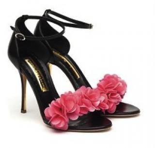 Rupert Sanderson Florinda PVC-trimmed leather sandals