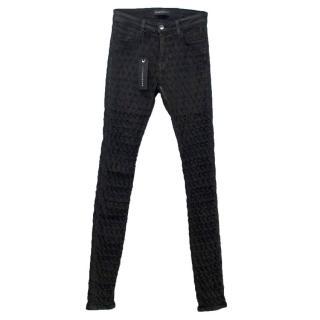 Brockenbow Black Emma Textured Skinny Jeans