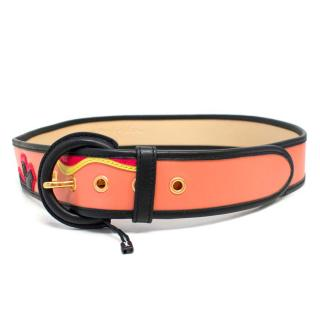 Bimba & Lola Leather Belt with Applique Details