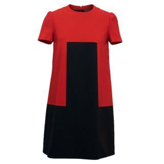 Alexander McQueen A-Line Short Sleeved Dress