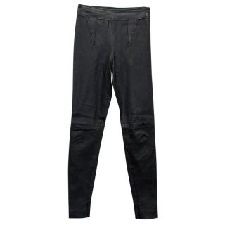 Givenchy Black Leather Trousers