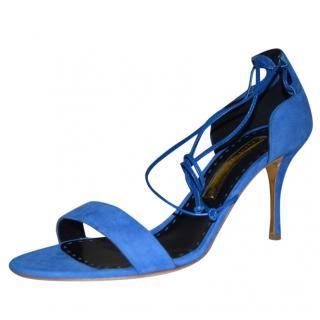 Rupert Sanderson Blue ankle strap Suede sandals