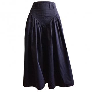 Jil Sander Marine Blue Cotton Skirt Size S