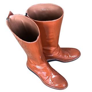Armani Collezioni Patent Boots