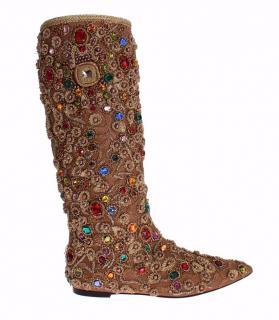 Dolce & Gabbana Embellished Boots