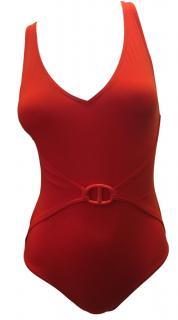 Hermes Red Swim Suit