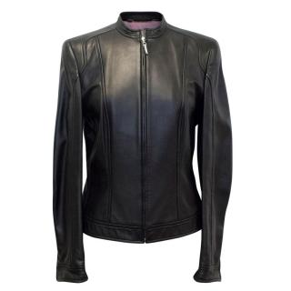 Escada Black Leather Jacket