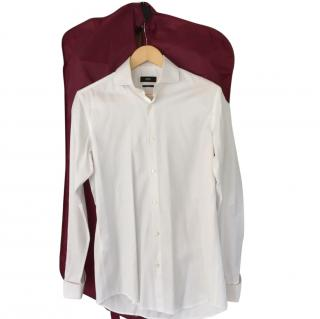 Hugo Boss Mens White Slim Fit Shirt