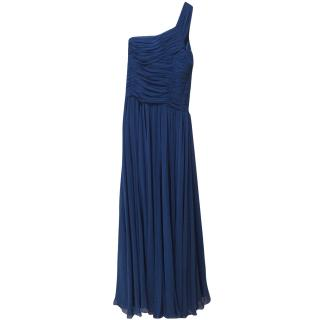Halston Heritage One Shoulder Royal Blue Gown