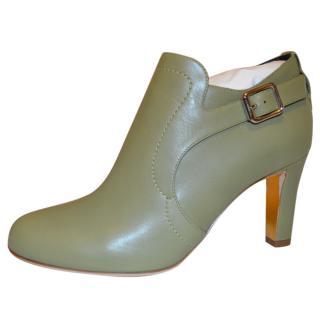 Rupert Sanderson Jocasta Olive Green Leather boots