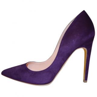 Rupert Sanderson Calice Purple Pumps