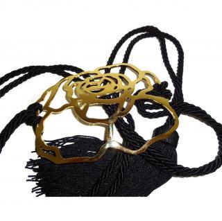 Valentino Vintage Gold Rose Belt