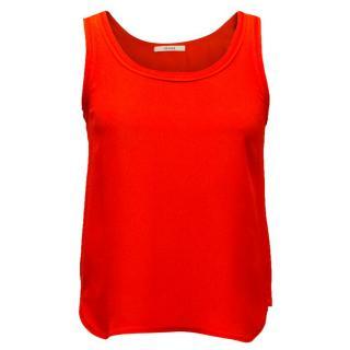 Celine Red Silk Blend Camisole Top