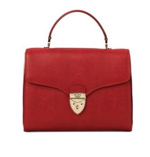 Aspinal Mayfair Bag in Berry Red