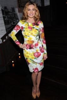 Dolce and Gabbana Long Sleeve Onion and Flower Dress