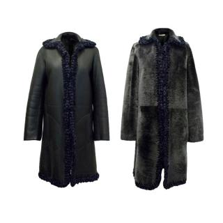 Celine Reversible Shearling and Leather Coat
