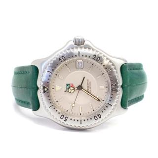 Tag Hueur 'Professional' Watch with Green Leather Strap