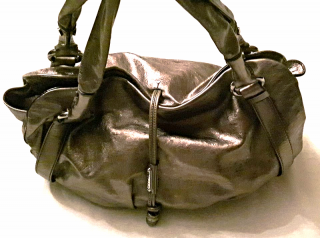 Celine Metallic Leather Large Hobo Handbag