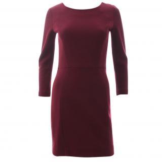 Sandro Ruby Wool-Blend Zip Detail Dress