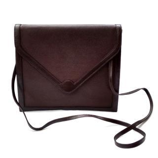 Christian Dior Vintage Brown Leather Shoulder /Crossbody/ Clutch Bag.