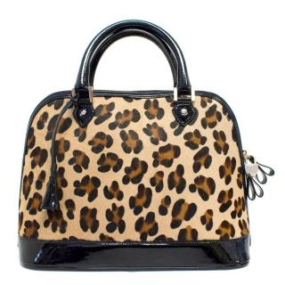 Aspinal of London Leopard Print and Leather Bag