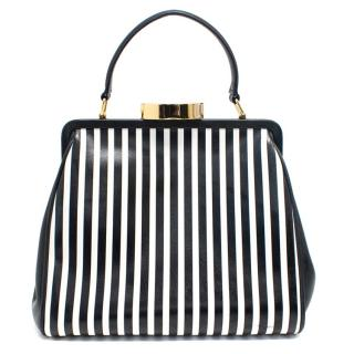 Lulu Guinness Black/White Small Cross Body Tote