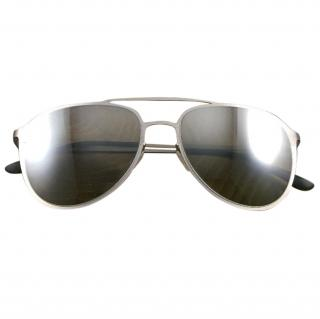 Italian Independent Silver Sunglasses
