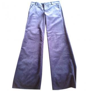 Chloe Blue Velvet Pants