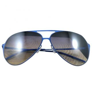 Italian Independent Blue Sunglasses