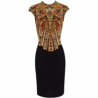 Alexander McQueen Black Embroidered Dress