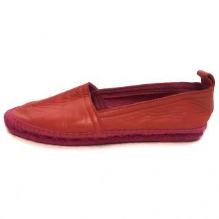 Loewe Coral Leather Espadrilles