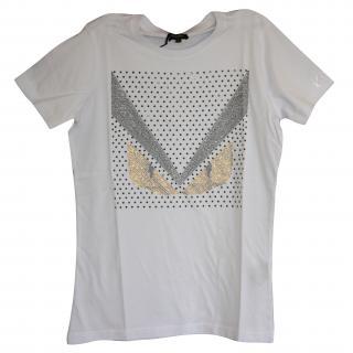 BNWT Fendi 3D Swarowski T-Shirt S