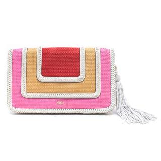 Anya Hindmarch Woven Multicoloured Clutch