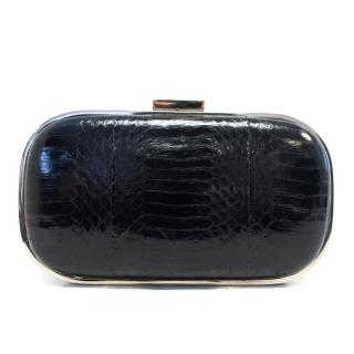 Anya Hindmarch Black Leather Clutch