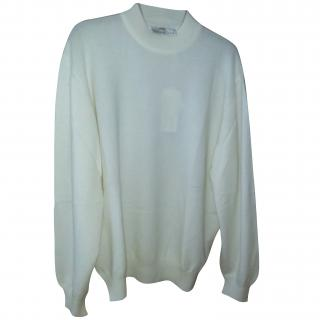 Balenciaga White Cashmere Long Sleeved Top