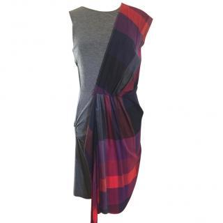 McQ Alexander McQueen Jersey and Plaid Sleeveless Dress