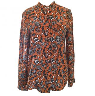 Marc by Marc Jacobs Printed Silk Blouse