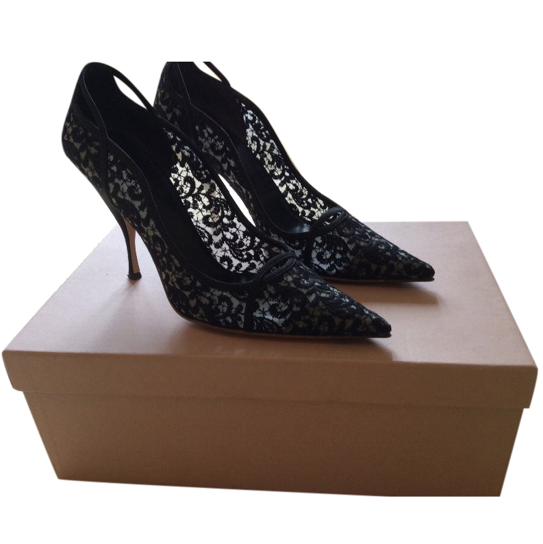 Miu Miu Black Lace Evening Shoes   HEWI