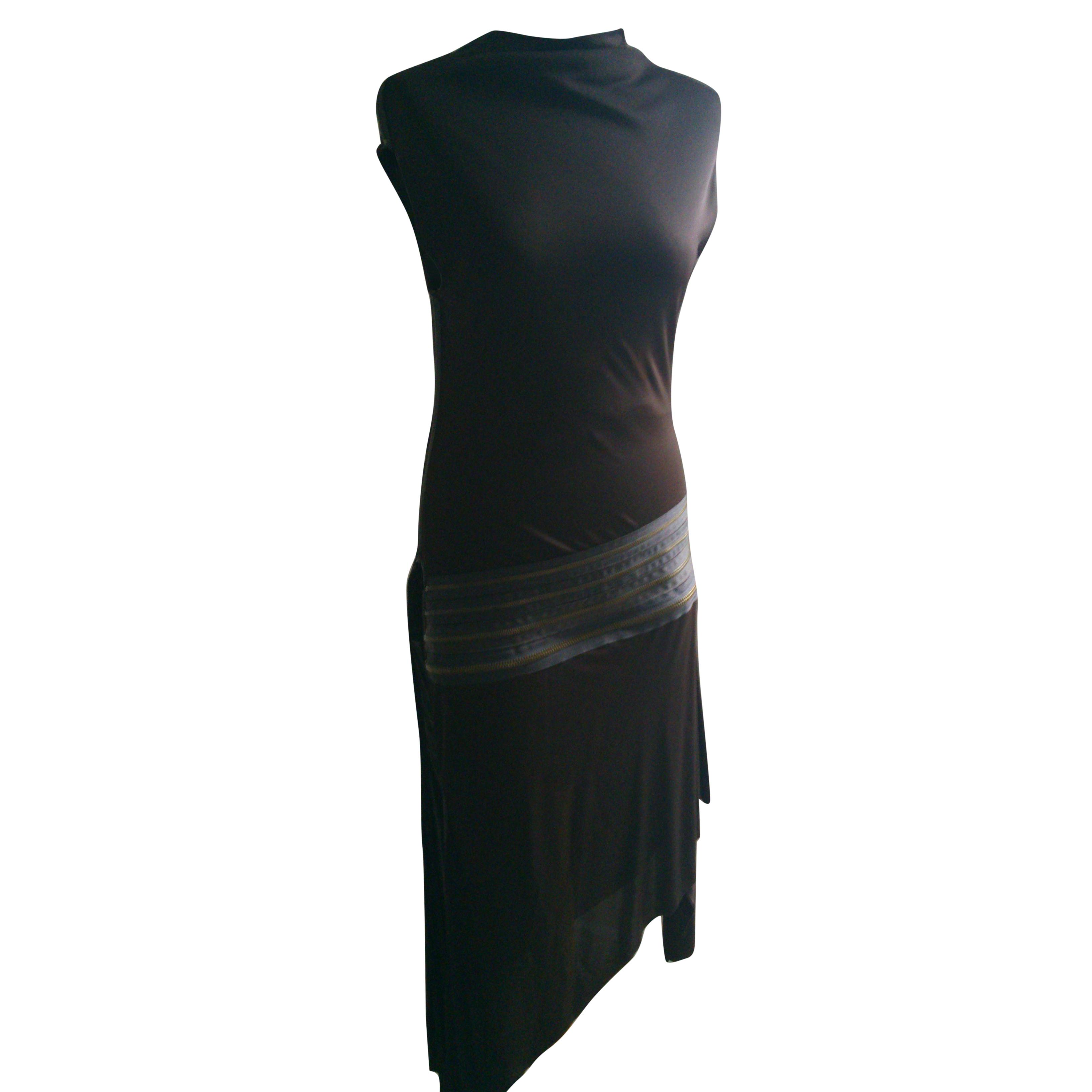 Jean Paul Gaultier Brown Jersey Dress