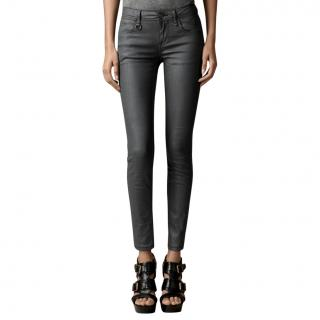 Burberry Brit Coated Black Jeans