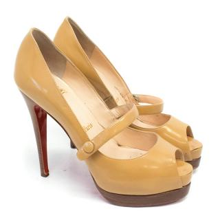 Christian Louboutin Caramel Strapped Pumps