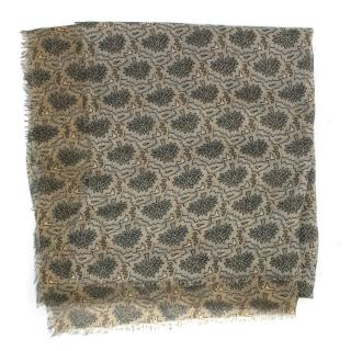 Mulberry Square Patterned Scarf