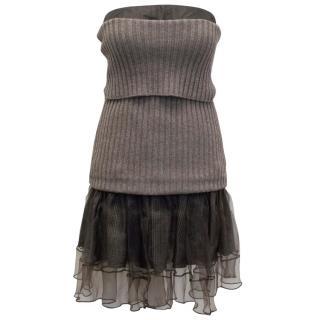 Louis Vuitton Sweater And Silk Dress