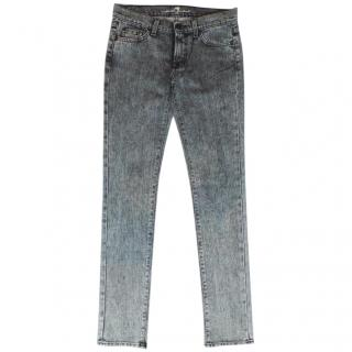 7 For All Mankind grey slim jeans
