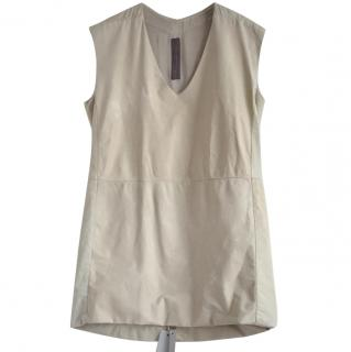 Rick Owens leather tunic top