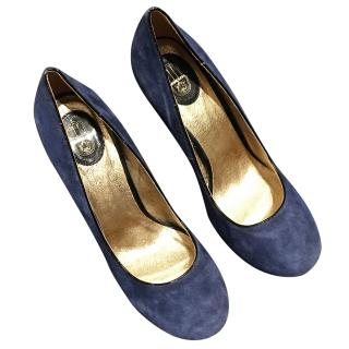 Manoush Blue Suede Wedges
